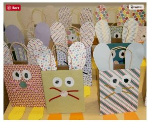 preschool Easter craft paper bag bunnies