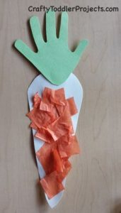 preschool Easter craft carrot