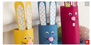 preschool Easter craft paper bunnies