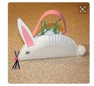 preschool Easter craft paper plate bunny