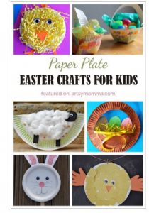 preschool Easter craft paper plate chick