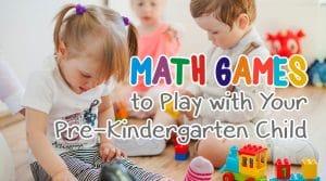 Pre-Kindergarten Math Games