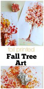 foil printed tree